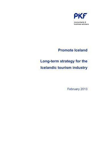 Promote Iceland Long-term strategy for the Icelandic tourism industry