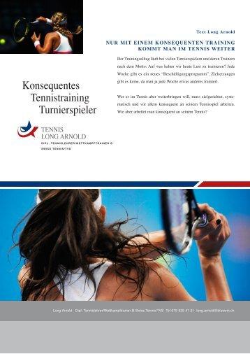 Konsequentes Tennistraining Turnierspieler