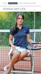 Tennis Hotel Hermitage Sommer 2012