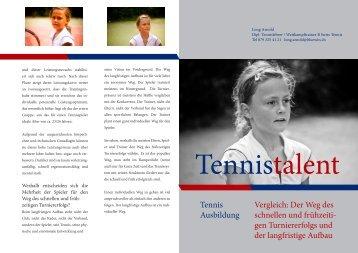 Zwei Wege im Tennis