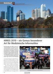 HIMSS 2010 – ein Genuss besonderer Art für Medizinische ... - GUIG