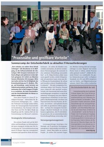 Veröffentlichung zum Sommercamp 2009 KH-IT-Journal - GUIG