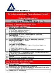EW IT Service Management, Universitätsklinikum Schleswig ... - GUIG