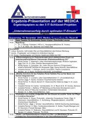 MEDICA Ergebnispräsentation 2012 - GUIG