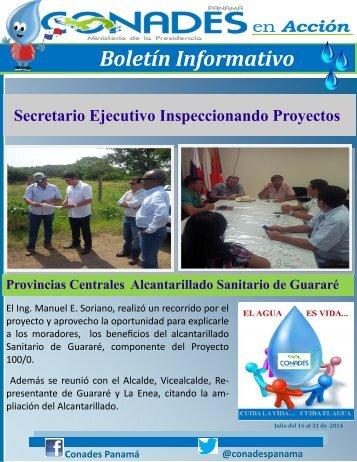 Boletín Informativo de Conades Julio del 15 al 31 del 2014
