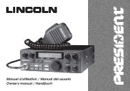 Lincoln 4 langues.p65 - PRESIDENT ELECTRONICS :::. CB Radios ...