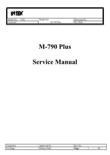 M-790 Plus Service Manual - CB forumas