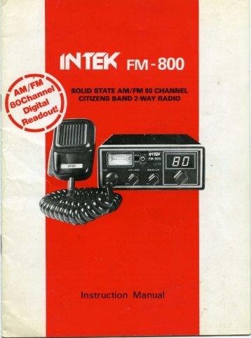 W INTEK FM-800 - Free