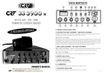 www.cbradio.nl: Manual CRT Superstar 3900N (ENG)