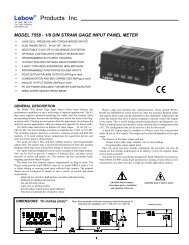 Model 7558 - Strain Gauge Condition - Honeywell Test and ...