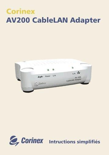 Corinex AV200 CableLAN Adapter