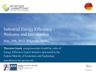 Energy Efficiency is… - AHK Serbien