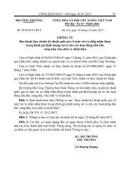 + Thông tư số 50/2012/TT-BCT ngày 28/12/2012 về việc ban hành ...