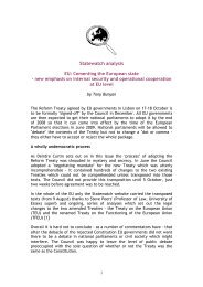 Statewatch analysis EU: Cementing the European state - new ...