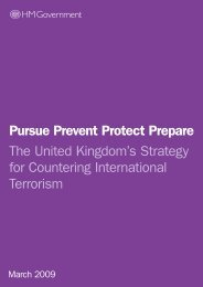 The Goverment's Counter Terrorism Strategy