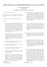 COUNCIL DIRECTIVE 2004/82/EC of 29 April 2004 on ... - Statewatch