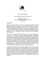 Statewatch Analysis The Proposed EU Returns Directive