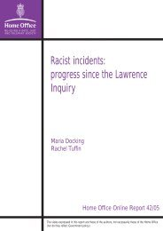 Racist incidents: progress since the Lawrence Inquiry - Statewatch