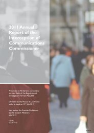 2011 Annual Report of the Interception of Communications ...