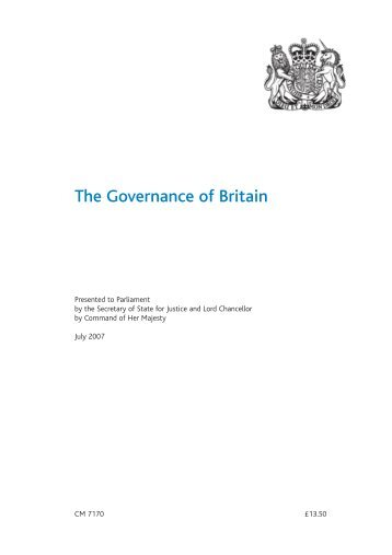 The Governance of Britain CM 7170 - Official Documents