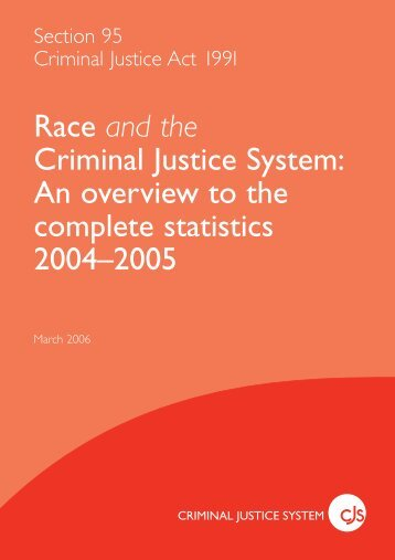 Race and the Criminal Justice System: An overview to ... - Statewatch