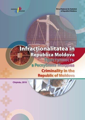 Преступность в Республике Молдова - Biroul Naţional de Statistică