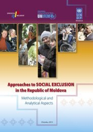 Approaches to social exclusion in the Republic of Moldova ...