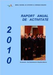 RAPORT ANUAL DE ACTIVITATE - Biroul Naţional de Statistică
