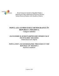 выпуск 2009 г. - Biroul Naţional de Statistică