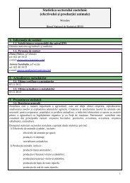 Statistica sectorului zootehnic - Biroul Naţional de Statistică