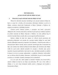 METODOLOGIA privind calculul indicelui inflaţiei de bază I. Obiectul ...