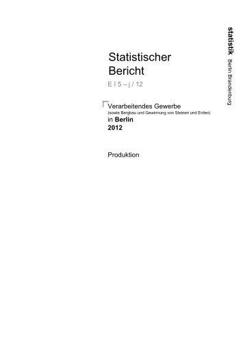 in Berlin 2012 - Amt für Statistik Berlin-Brandenburg
