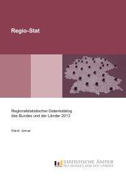 Regionalstatistischer Datenkatalog des Bundes und der Länder