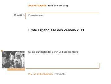 Erste Ergebnisse des Zensus 2011 - Amt für Statistik Berlin ...