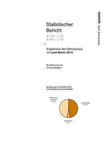 Land Berlin 2012 - Amt für Statistik Berlin-Brandenburg