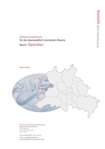 Spandau, PDF - Amt für Statistik Berlin-Brandenburg