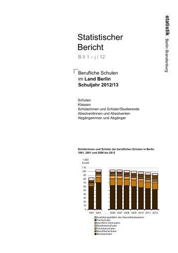 Berufliche Schulen in Berlin - Amt für Statistik Berlin-Brandenburg