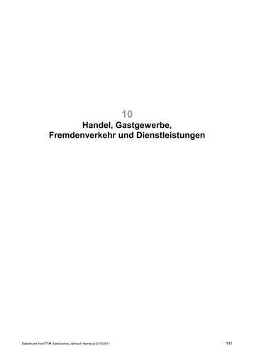 Statistisches Jahrbuch Hamburg 2010/2011 - Statistikamt Nord