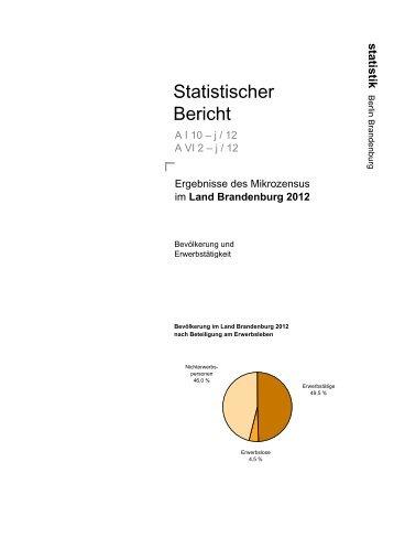 Mikrozensus im Land Brandenburg 2011 - Amt für Statistik Berlin ...