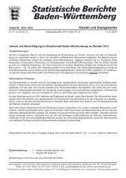 G I 1 - m (1) Umsatz und Beschäftigung im Einzelhandel Baden ...