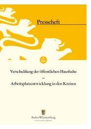 Verschuldung der öffentlichen Haushalte - Statistisches Landesamt ...