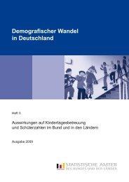 Demografischer Wandel in Deutschland, Heft 3 ... - Statistische Ämter