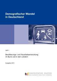 Demografischer Wandel in Deutschland, Heft 1, 2011 - Statistisches ...