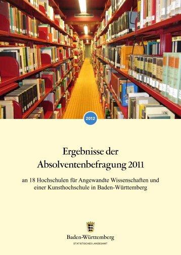 Ergebnisse der Absolventenbefragung 2011 - Hochschule der Medien