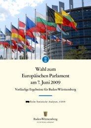 Wahl zum Europäischen Parlament am 7. Juni 2009 - Statistisches ...