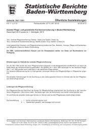 und gesetzliche Krankenversicherung in Baden-Württemberg