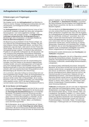 Erläuterungen zum Fragebogen Auftragsbestand im ...
