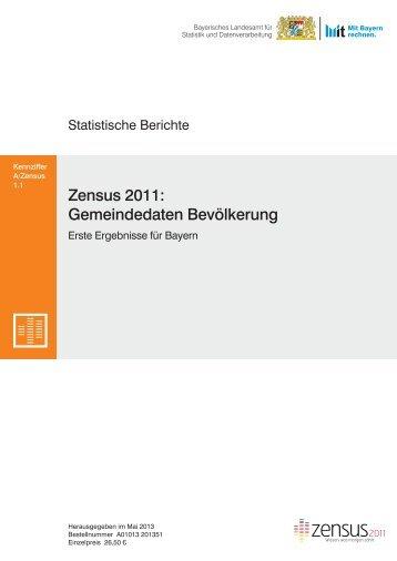 Gemeindedaten Bevölkerung Zensus 2011: - Bayerisches ...