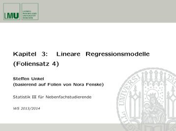Kapitel 3: Lineare Regressionsmodelle (Foliensatz 4)