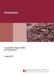 Kreiszahlen - Ausgewählte Regionaldaten für Deutschland 2012